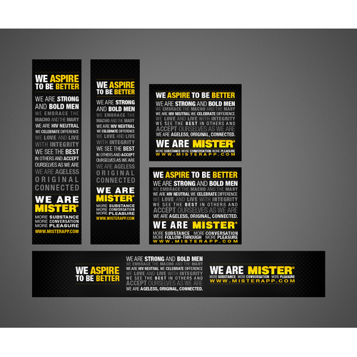 Typographic design of our mission statement