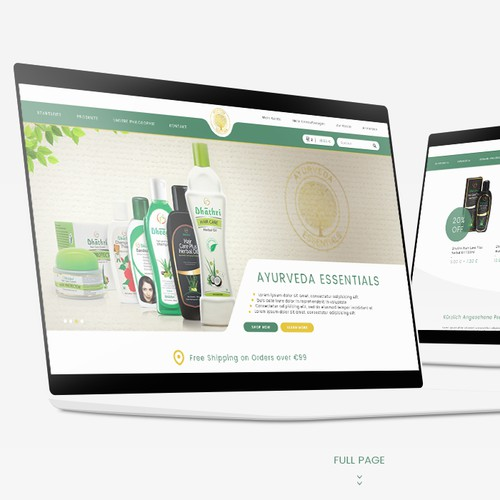 Landing Page For A Cosmetics Business