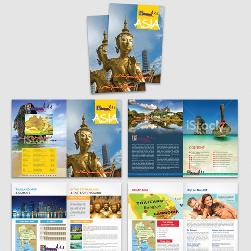 Create the FIRST Asia brochure for AUZs LARGEST Backpacker Travel Agent -other destinations 2 follow