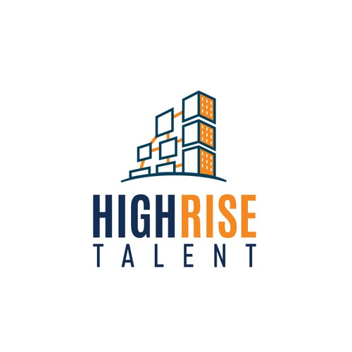 Clever Logo design for High Rise Talent Consulting