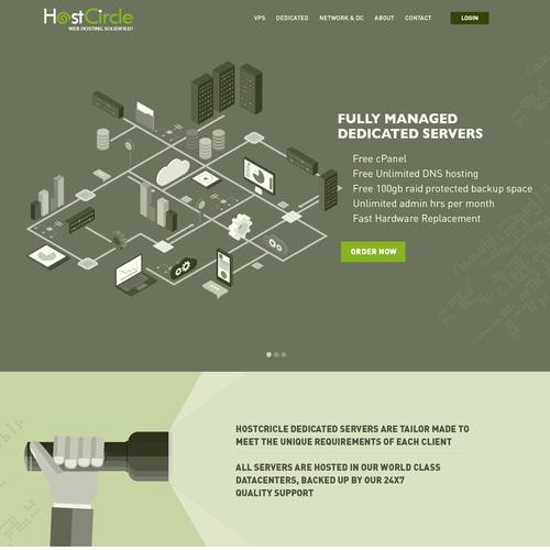 Illustrative design for hosting company