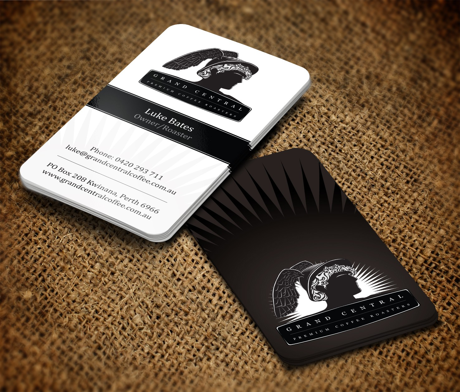 stationery for Grand Central Premium Coffee Roasters