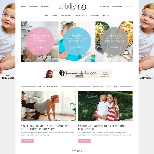 Website design for Tot Living