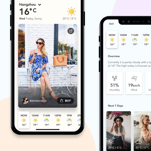 Weather based shopping app
