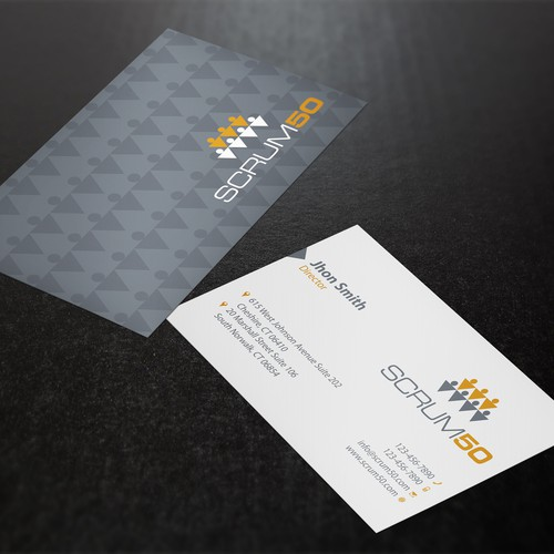 Create a business card for an innovative advertising agency