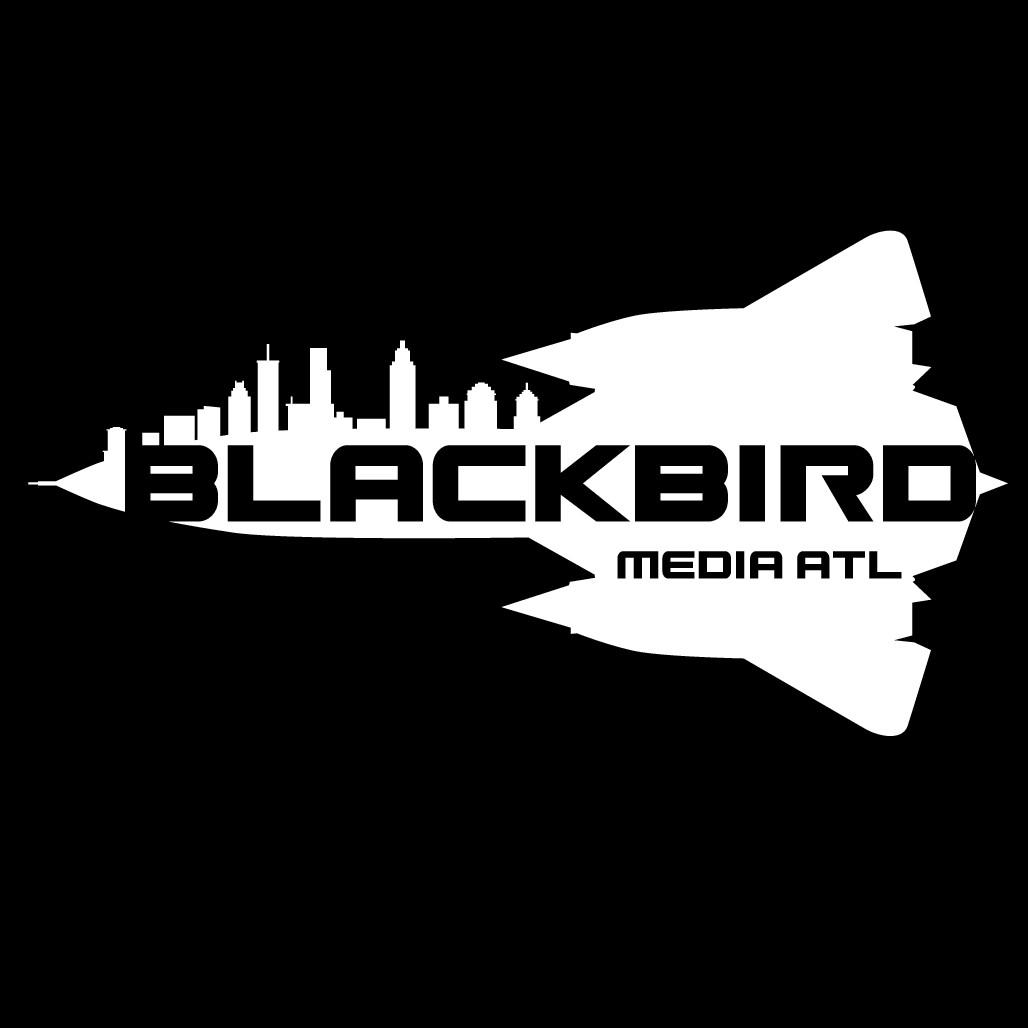 SR-71 Blackbird and Atlanta Skyline logo for Media Business