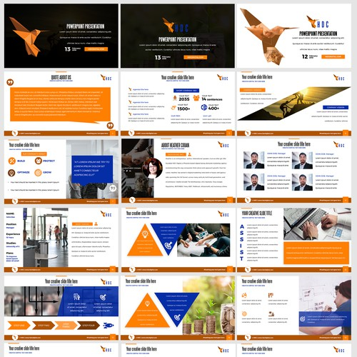 PowerPoint Template for a Marketing Firm