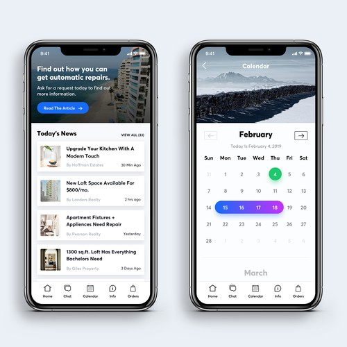 Real Estate App UI Concept