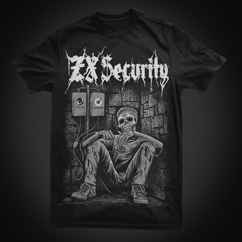 Tshirt design for ZX security