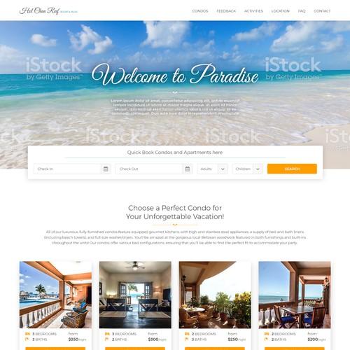 Website design for hotels resort