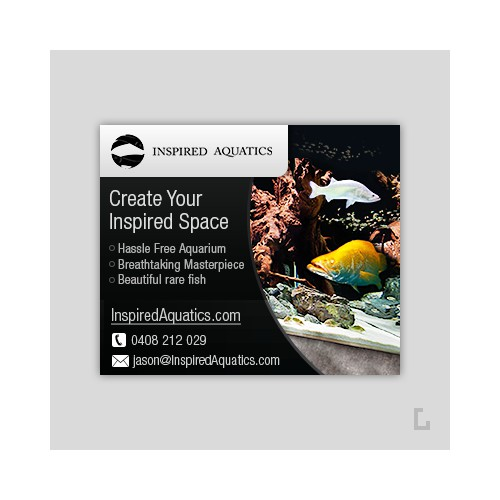 Banner Ad Design for Inspired aquatics
