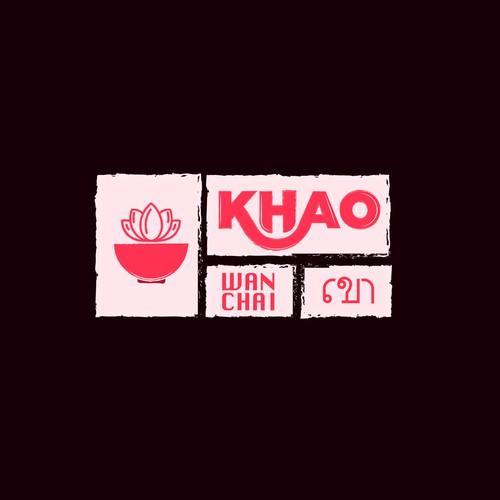 Khao Thai Restaurant Logo Design.