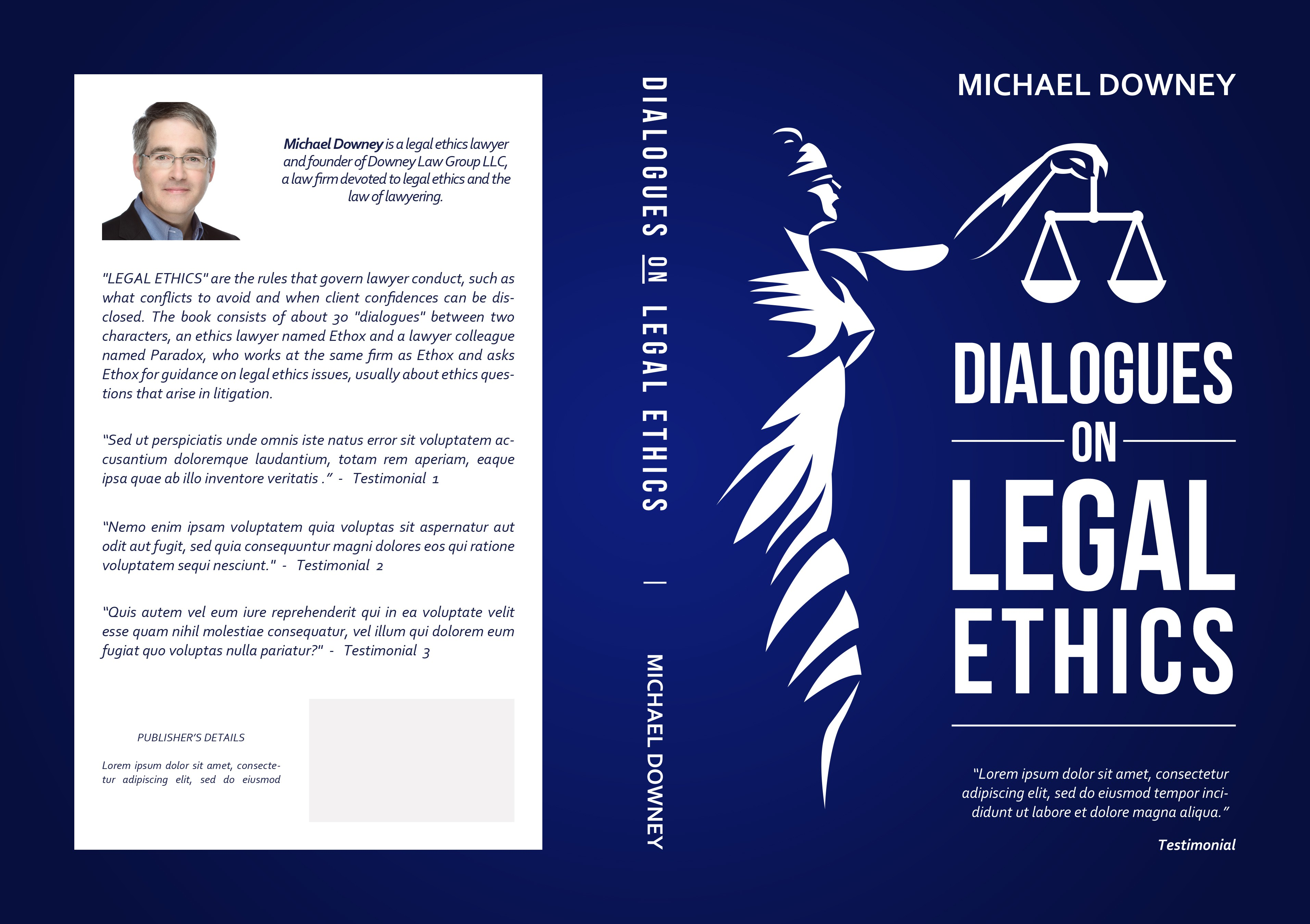 """Book cover for """"Dialogues on Legal Ethics"""""""