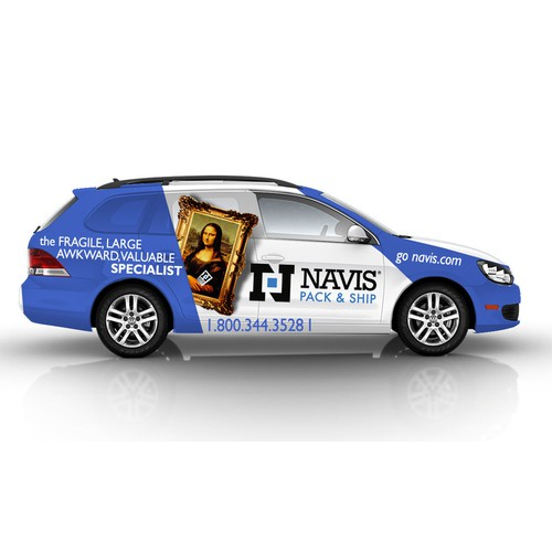 Create a vehicle wrap for NAVIS Baltimore.
