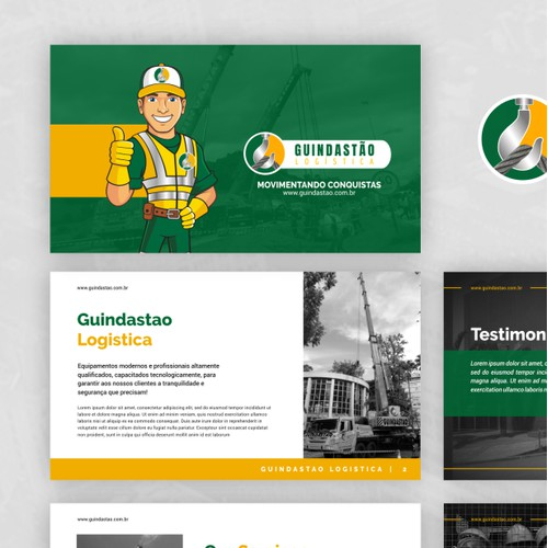 Presentation Design for Guindastao Logistica