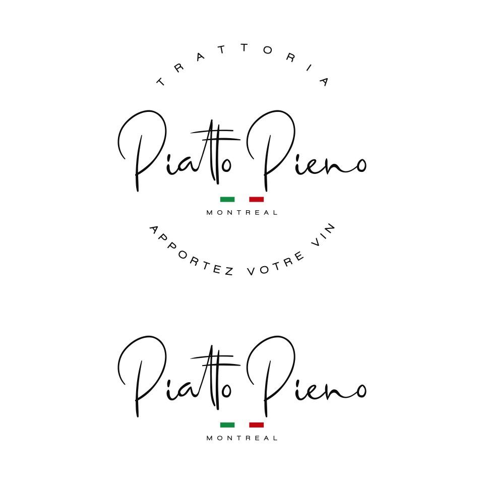 PIATTO PIENO montreal, italian restaurant in the heart of little italy. No cartoon logo or food pics
