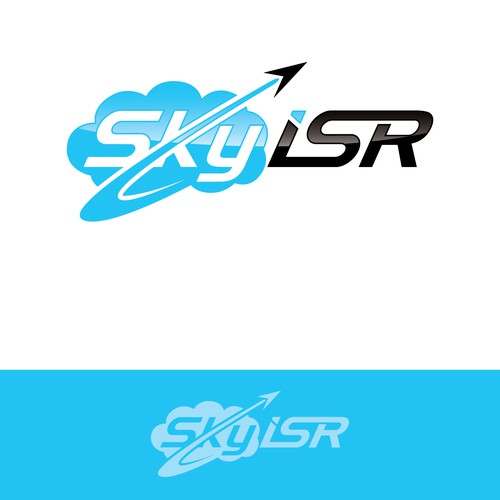 Create a high flying logo for SkyISR a drone company!