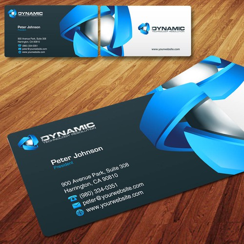Business card design for Dynamic TR
