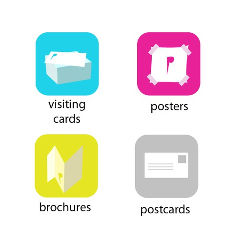 Icons for a Print Portal