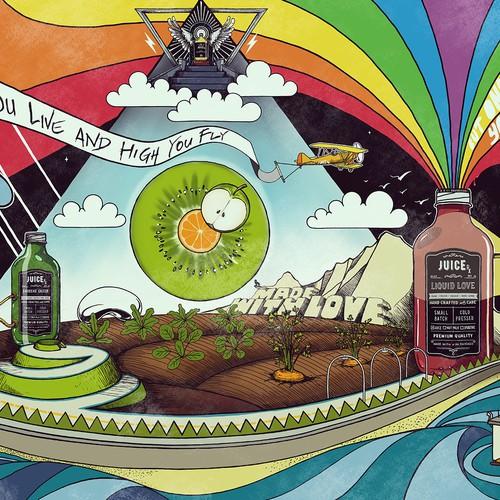 Mural Inspired by Pink Floyd