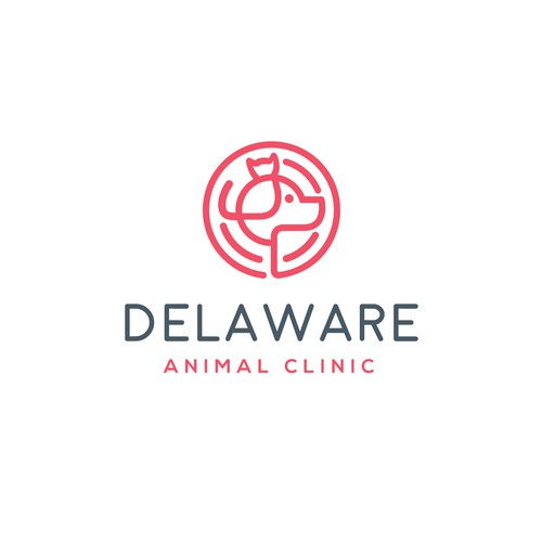 fun and simple logo for delaware