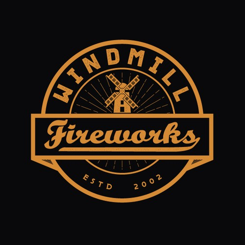 Vintage fireworks company logo