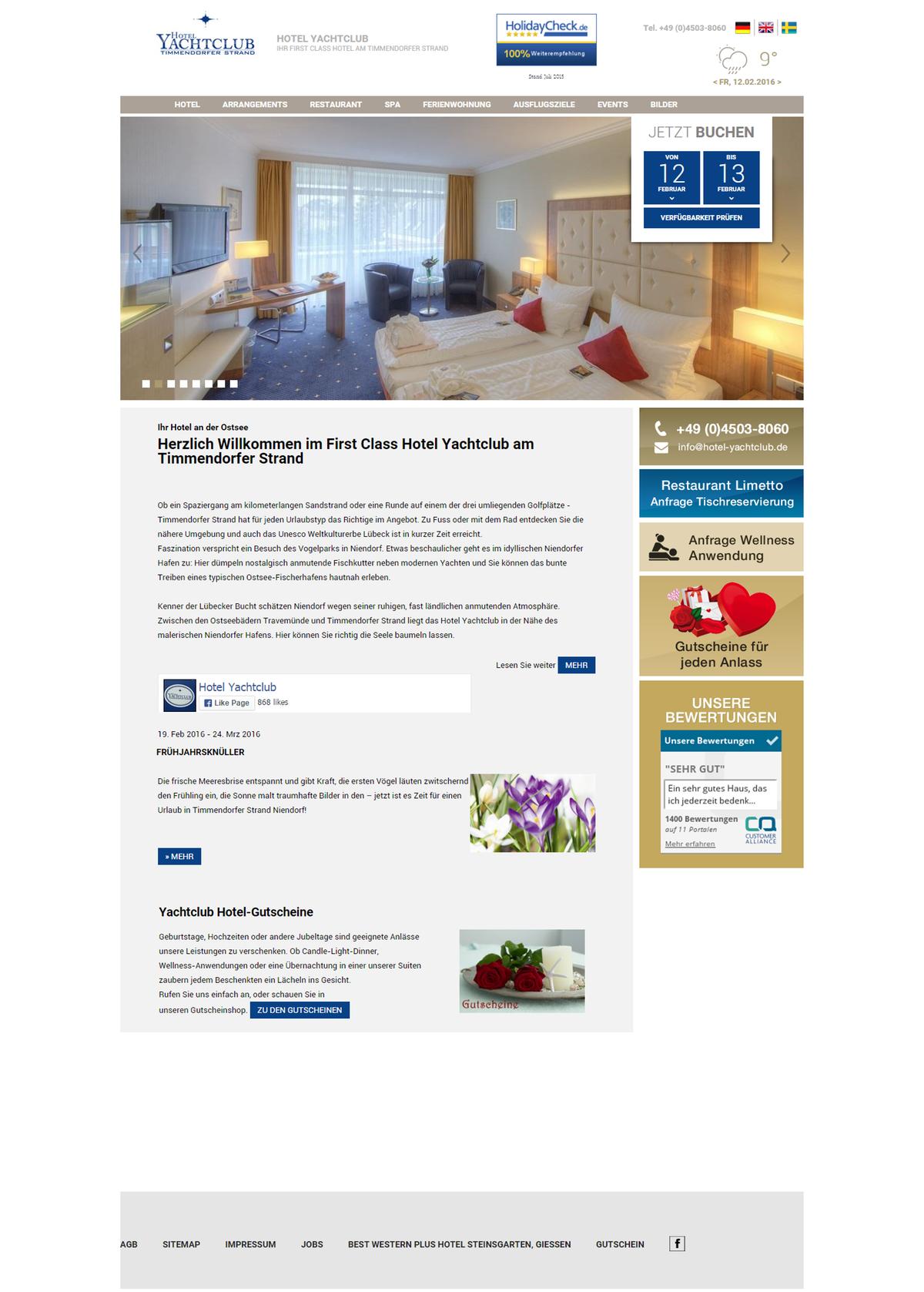 Hotel Yachtclub Baltic Sea, Selling Bar in 3 Variants
