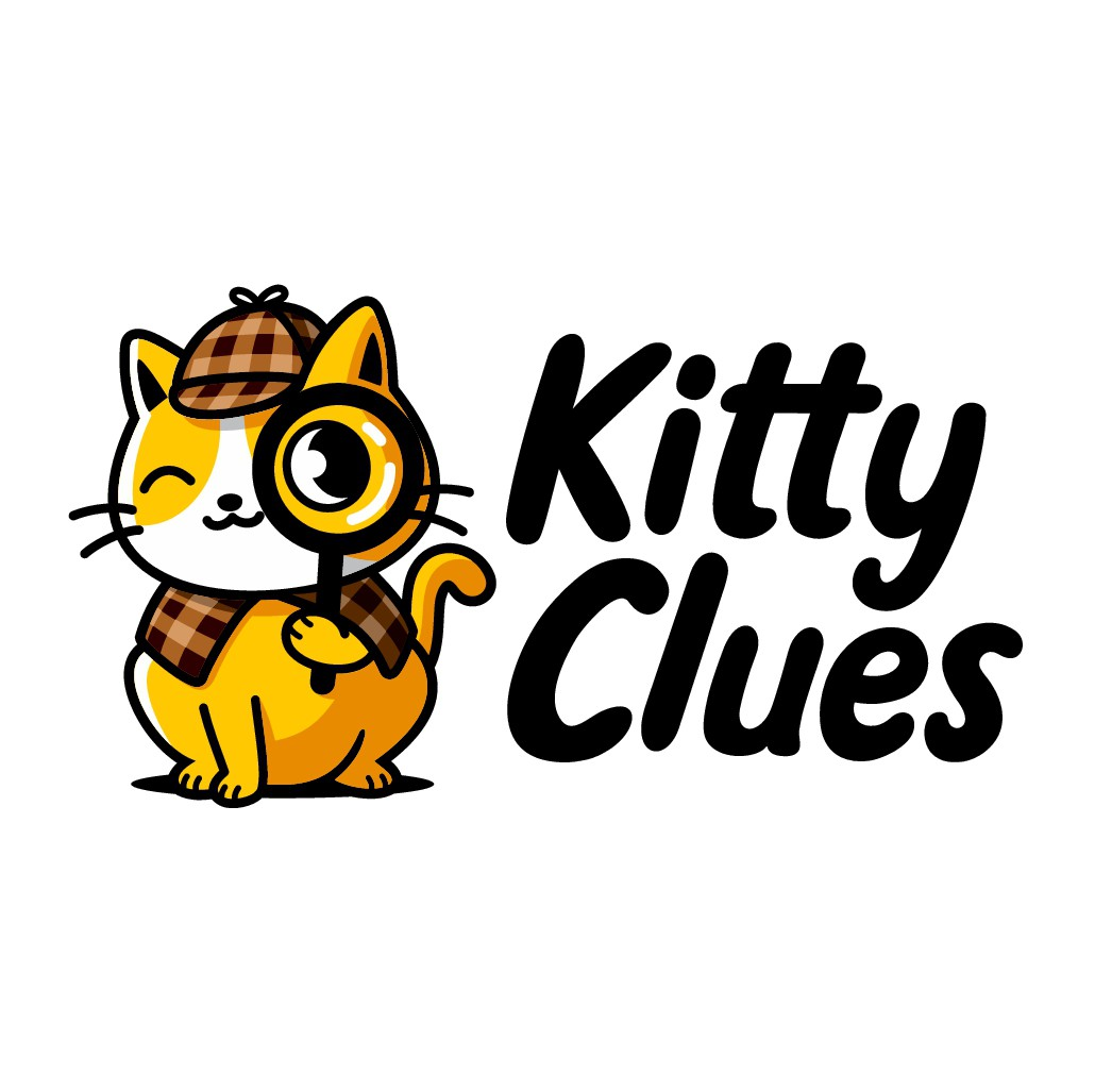 Detective Cat logo for Cat information Blog appealing to cat owners