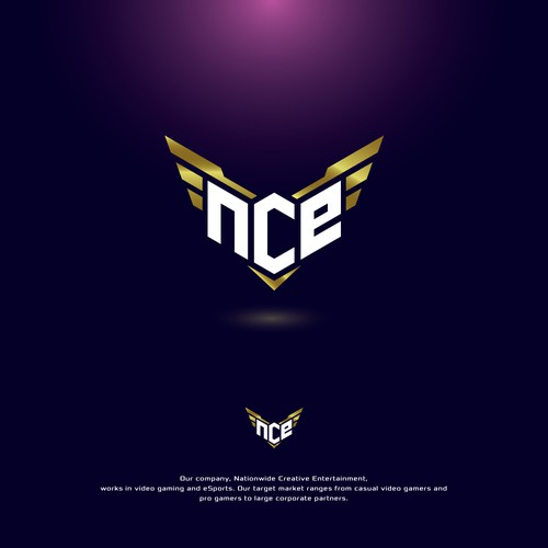 NCE wordmark logo design