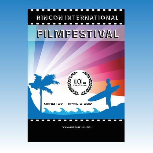 poster for a film festival in peorto rico