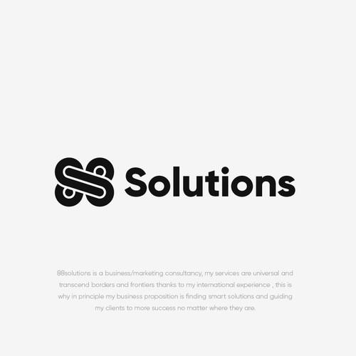 Monogram logo for 888 Solutions