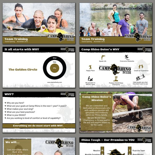 Creative Design for Obstacle Training Camp