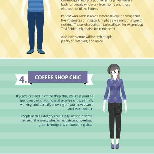 The 7 stages of freelancer dress code