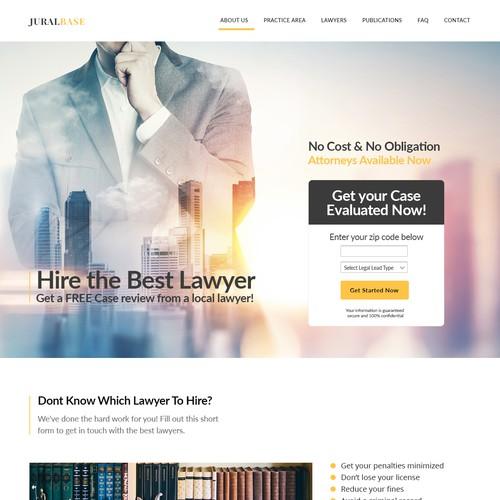 Landing page design - Lawyer