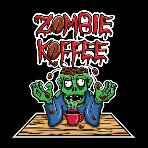Illustration-logo Zombie Koffee