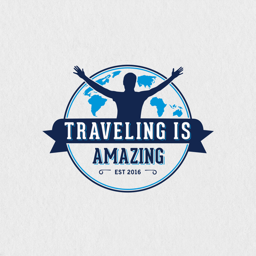 Bold logo for Traveling Is Amazing