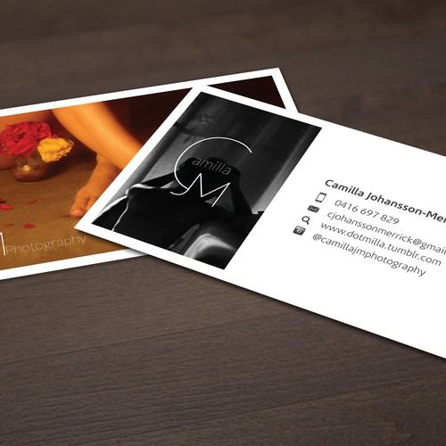 create a business card for photographer