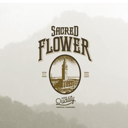 Vintage Logo for Sacred Flower