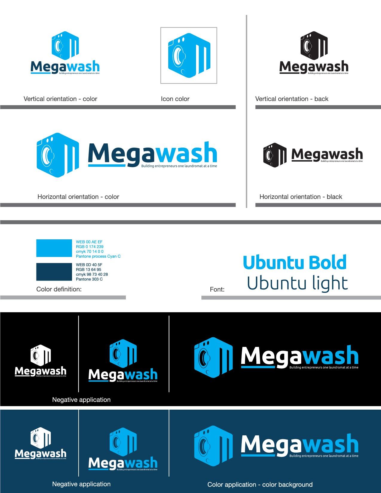Megawash needs a powerful logo.