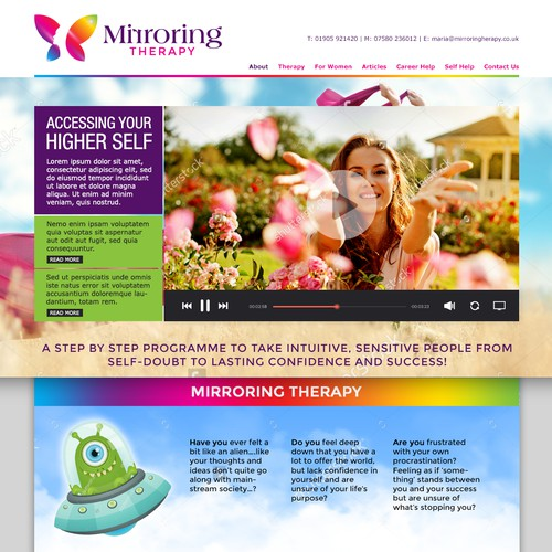 Mirroring Therapy Landing Page