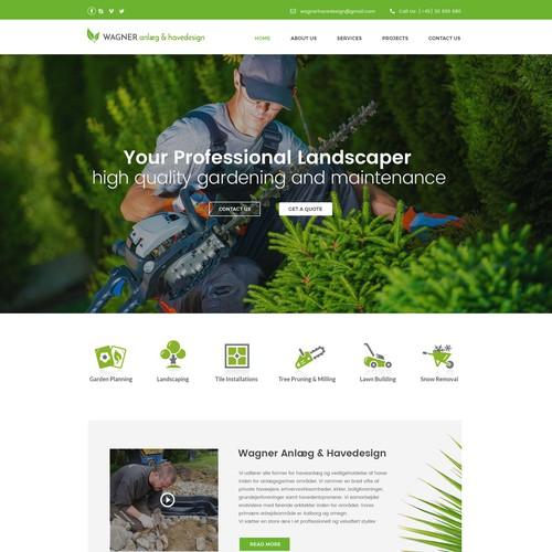 Webdesign Landscaper Denmark