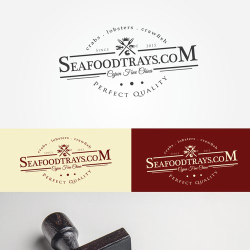 Friendly Seafood Characters Logo Design