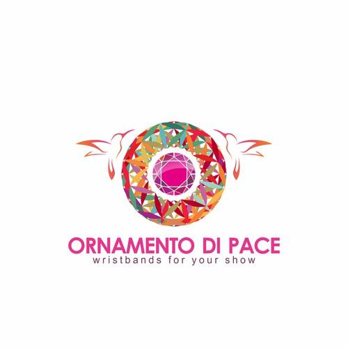 Ornamento di pace logo design