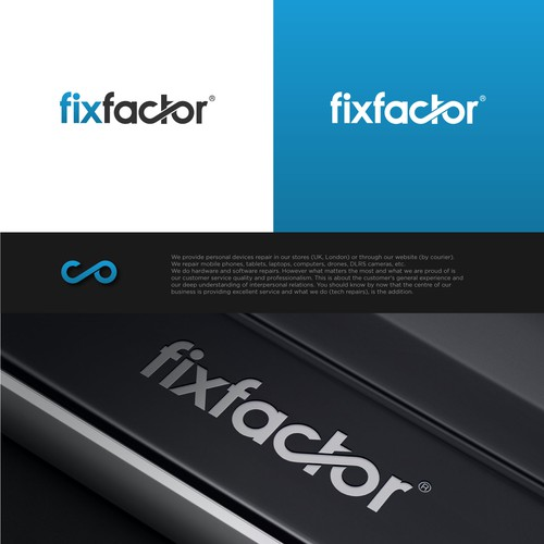 Strong and bold logo concept for fixfactor.