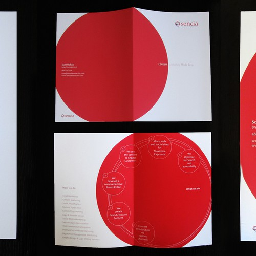brochure design for Sencia Interactive