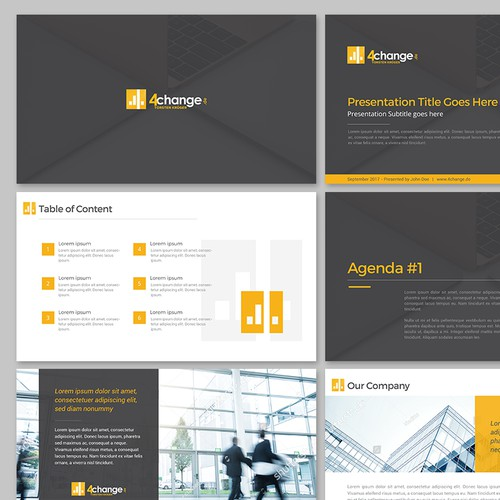 Powerpoint template for 4change.de