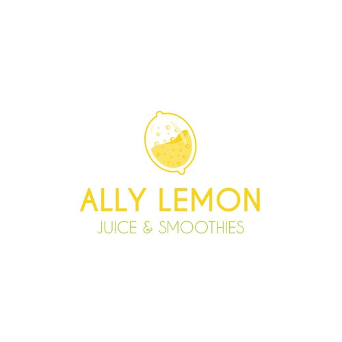 Logo concept for a modern juice bar