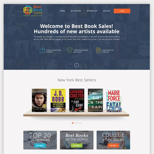 Best Book Sales Home Page
