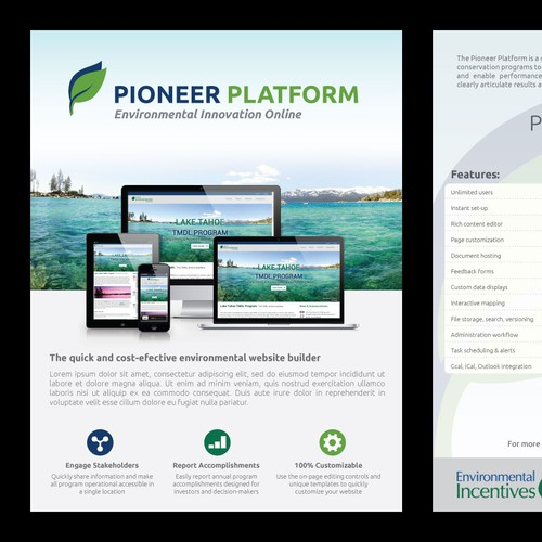 New Environmental Website Builder - 2-Page Promotional Flyer Needed!