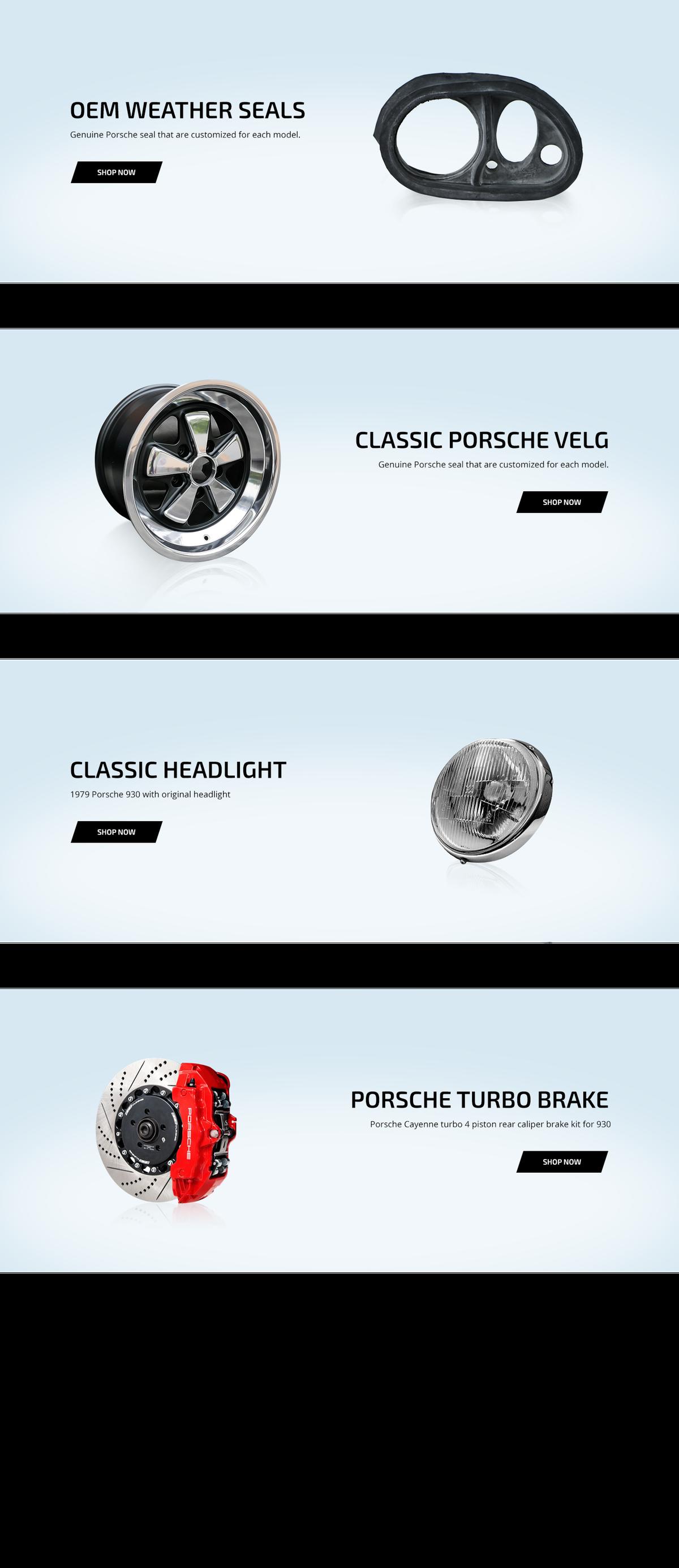Porsche Parts Web Pages